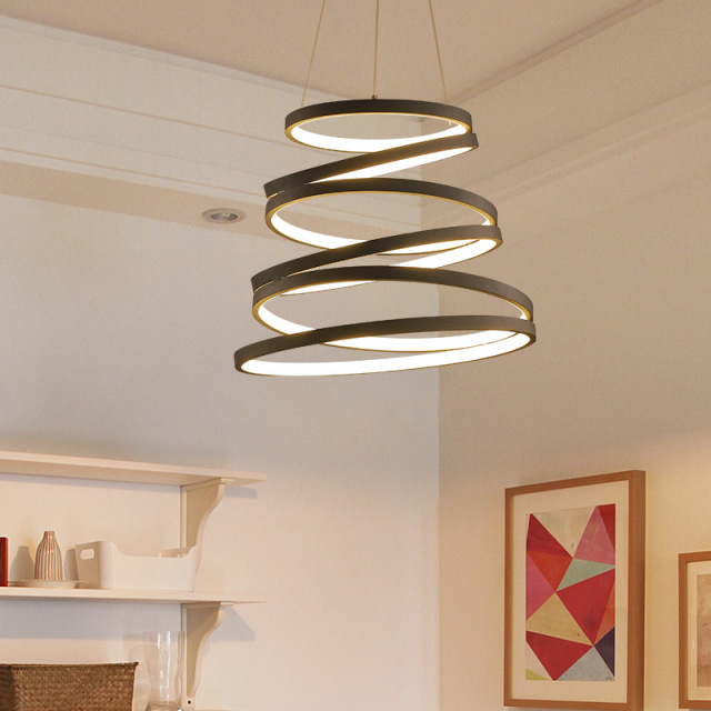 Modern LED Suspended Lamps Nordic Restaurant Hanging Lighting Living Room Fixtures Novelty Dining Pendant