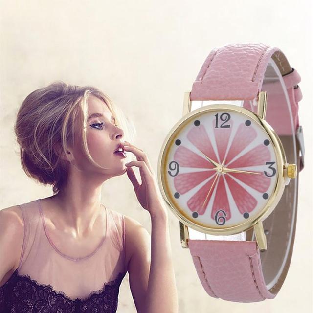 Lady Women Quartz Wristwatches Creative Pattern Floewr Girl Cute Watches Student