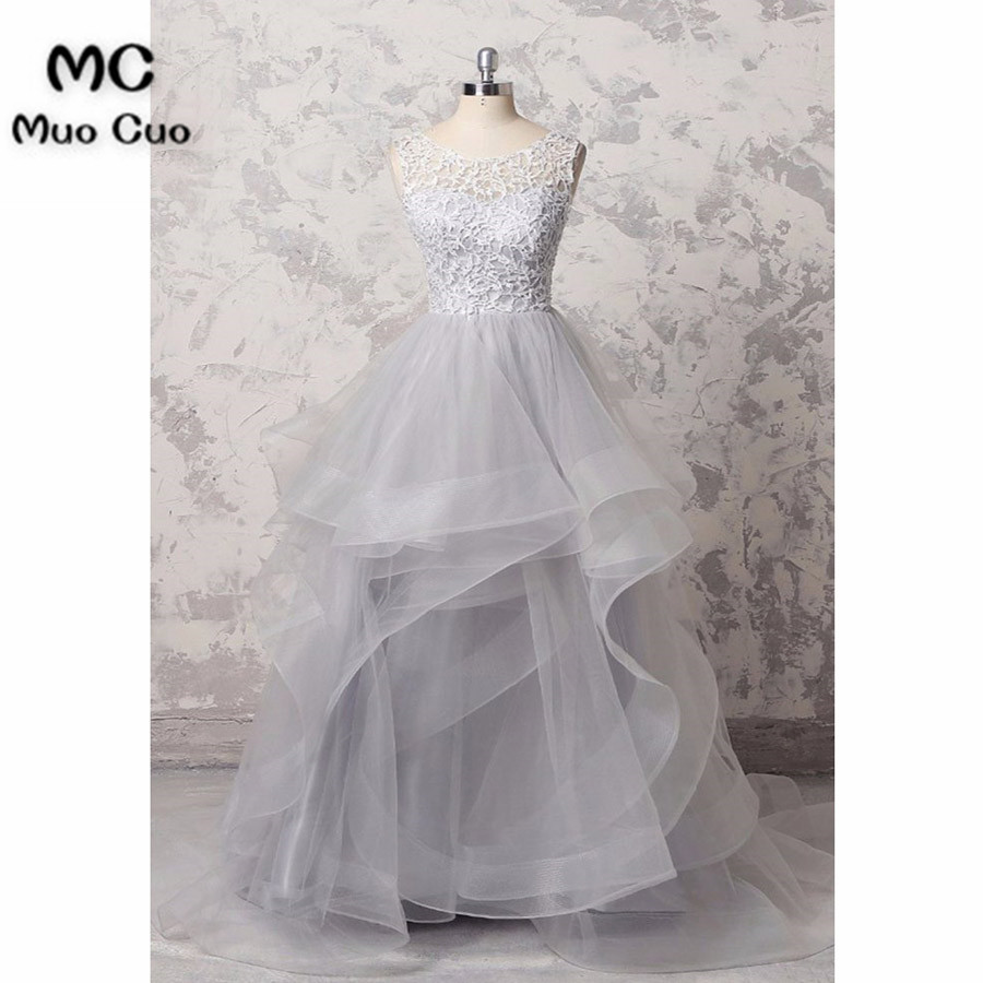 Elegant 2018 Ball Gown   Prom     dresses   Long with Lace Appliques Ruffles Organza Graduation   Dresses   Evening   Prom     Dress   for Women