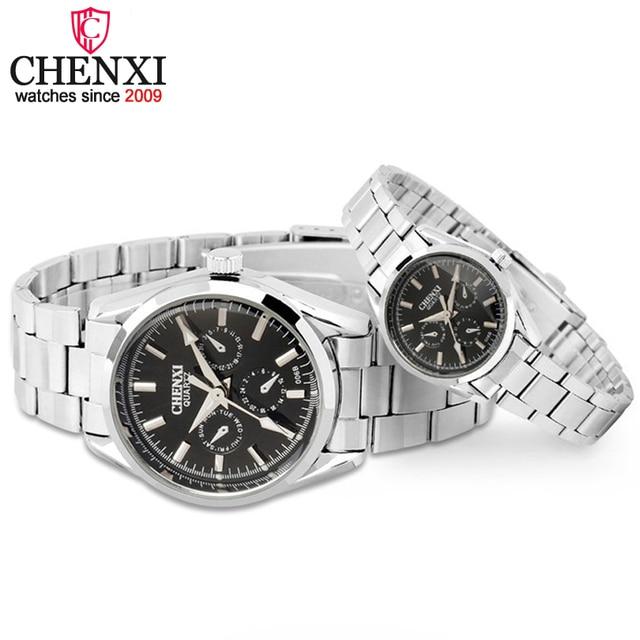 CHENXI Brand Luxury Quartz WristWatch 3 Small Decoration Dial Lover Couple Watch