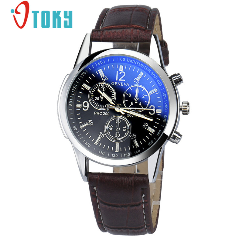 Creative Watch Men Brwon Luxury Fashion Faux Leather Strap ...