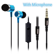 High quality In-ear metal Earphones Super Bass + hifi Earbuds and stereo headsets for smart phones MP3 MP4 player