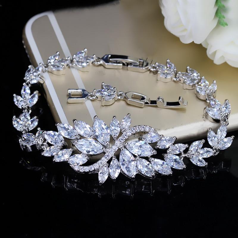 Profitable manufacturers selling luxury temperament Zircon Bracelet full cz inlaid jewelry color