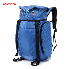 LEDANI Male Waterproof Backpack Creative Owl Backpacks Men Travel Leisure Bags School Boy Multifunction Laptop Computer