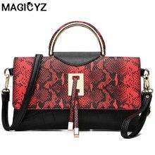MAGICYZ designer-handtaschen hohe qualität frau leder handtaschen Serpentine frauen tasche Für Frauen party Abend-handtasche 2017 NEUE