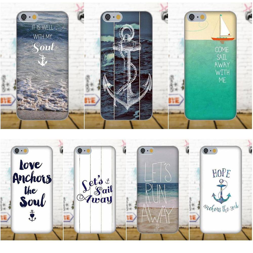 Oedmeb TPU Hotsales For Xiaomi Redmi 5 4A 3 3S Pro Mi4 Mi4i Mi5 Mi5S Mi Max Mix 2 Note 3 4 Plus Lets Run Away Anchor Beach Quote