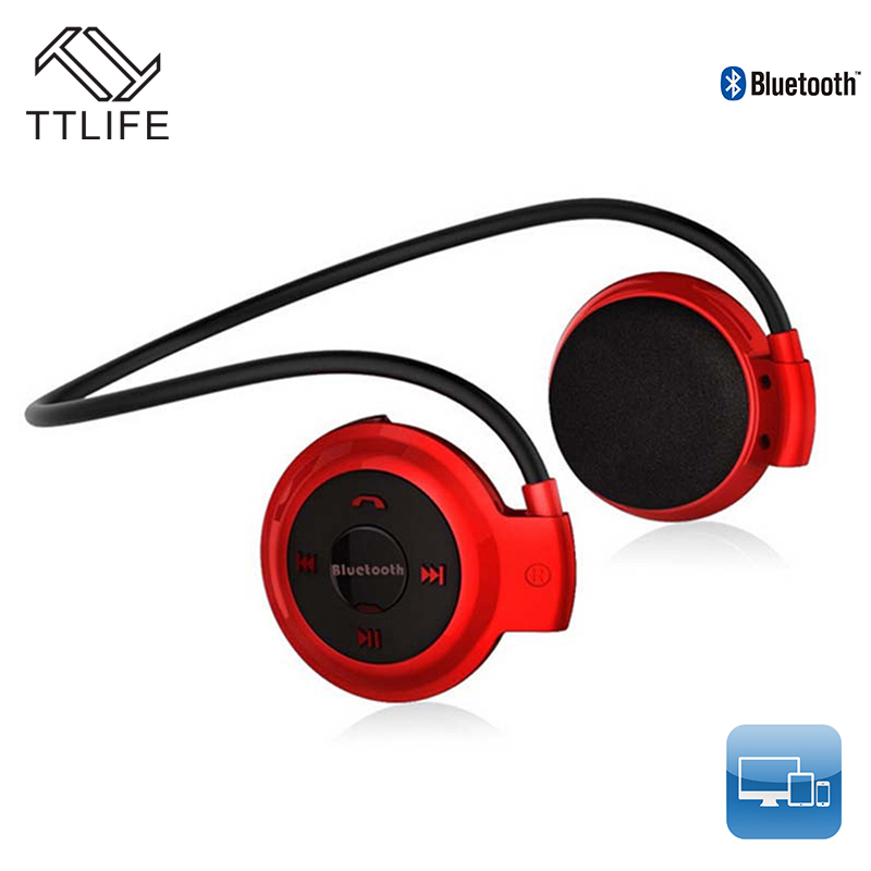 TTLIFE Mini503 Bluetooth Headphone Sport Stereo stereo wireless Bluetooth Earphone Micro SD Card Slot Headsets for Phone xiaomi economic set original nia 8809s 8 gb micro sd card a set wireless headphone sport for tv with fm