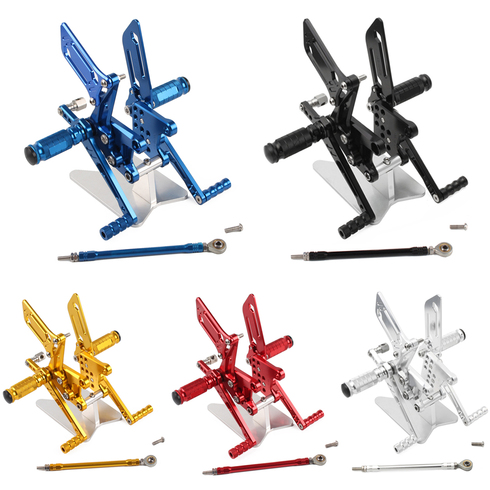 CNC Adjustable Rear Sets Rearset Footrest Foot Rest Pegs For Suzuki GSXR600 GSXR750 GSXR1000 GSXR 600 750 1000 SV650 SV650S