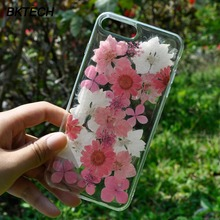 Fashion White and Pink Flower Silicon Case For iPhone 6 6 Plus Flexible Transparent Soft Floral Case For iPhone 7 7 Plus