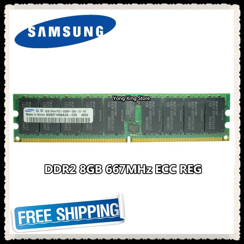 Samsung Server Memory 8GB 16GB DDR2 2Rx4 REG ECC RAM 667MHz PC2-5300P 667 8G Registered