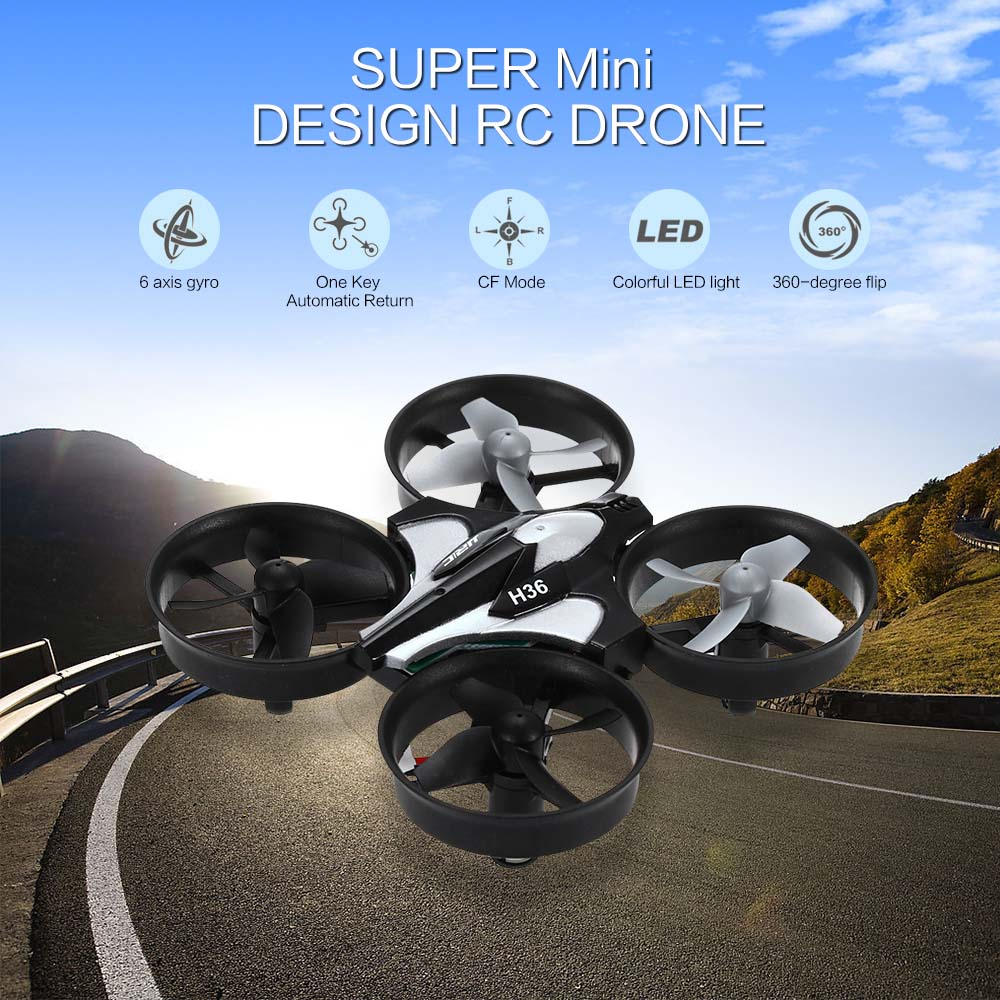 Super Mini Design RC Drone Dron 2.4GHz 4CH 6 Axis Gyro Quadcopter with LED light Speed Switch Fly Helicopter JJRC H36 VS H8 H20