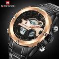 Naviforce marca de lujo relojes de los hombres militar impermeable reloj deportivo de cuarzo led digital de los hombres reloj masculino reloj de pulsera + origen caja