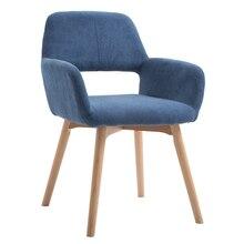 Северный стул из цельного дерева с одной шерстью современный минималистичный обеденный стул для дома, спальни, табурет для кофе, книжный стол