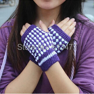 Over 2pcs 30%off Autumn Winter Outdoor Warm Women Lady Knitted Mitton Protective Full / Half Finger Gloves 1pair=2pcs GW46