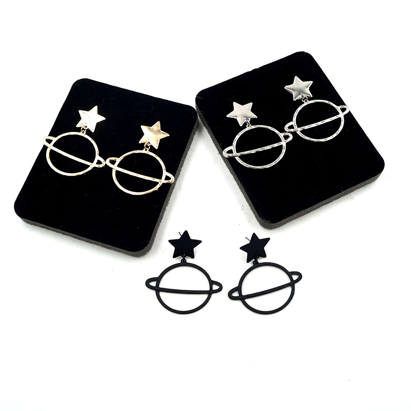 Free Shipping 6 Pair Lot Fashion Jewelry Metal Star
