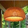 Chiński styl bambusa wisiorek LED lampa azja południowo wschodnia bambusowe wisiorek światła oświetlenie pokój dzienny hotelu lampy wiszące oprawy oświetleniowe
