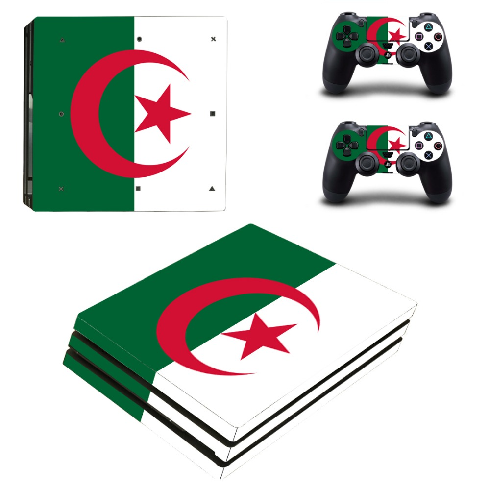 Islam Flag Vinyl Cover Decal PS4 Pro Skin Sticker for Sony PlayStation 4 Pro Console 2 Controllers Skins