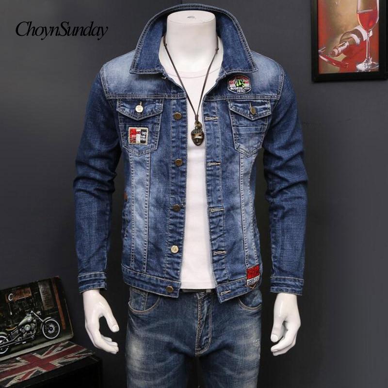 Griffés Taille Jeans Biker Vêtements Motor En Choynsunday Manches Hommes D'extérieur Manteau Grande À Lavé Denim Mode Jean Veste Longues Bleu qSzLpUjMVG