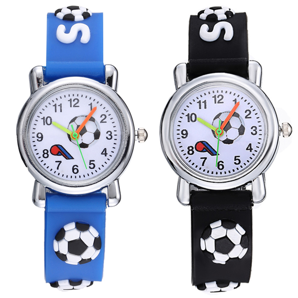 New Stylish Cartoon Football Children Watches Silicone Strap Analog Quartz Wristwatch For Boys Students Hot  Montre Enfant 2019