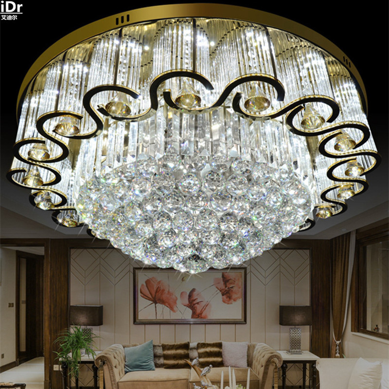 Aliexpress.com : Buy Continental Gold Round Crystal Lamp