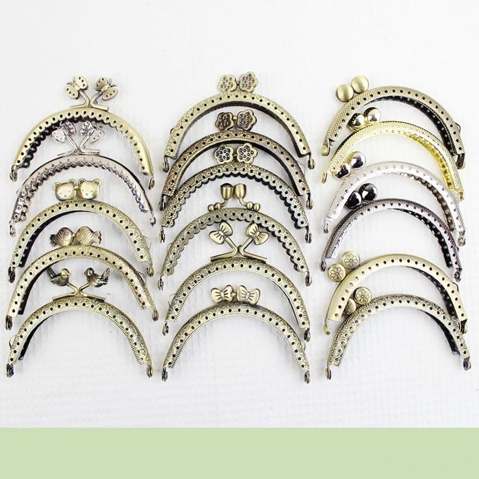 5 Piece Size 8.5 CM Metal Purse Hardware Clasp Coin Purse Frame Handle Fashion Obag Handle Wholesale Metal Coin Purse Frame
