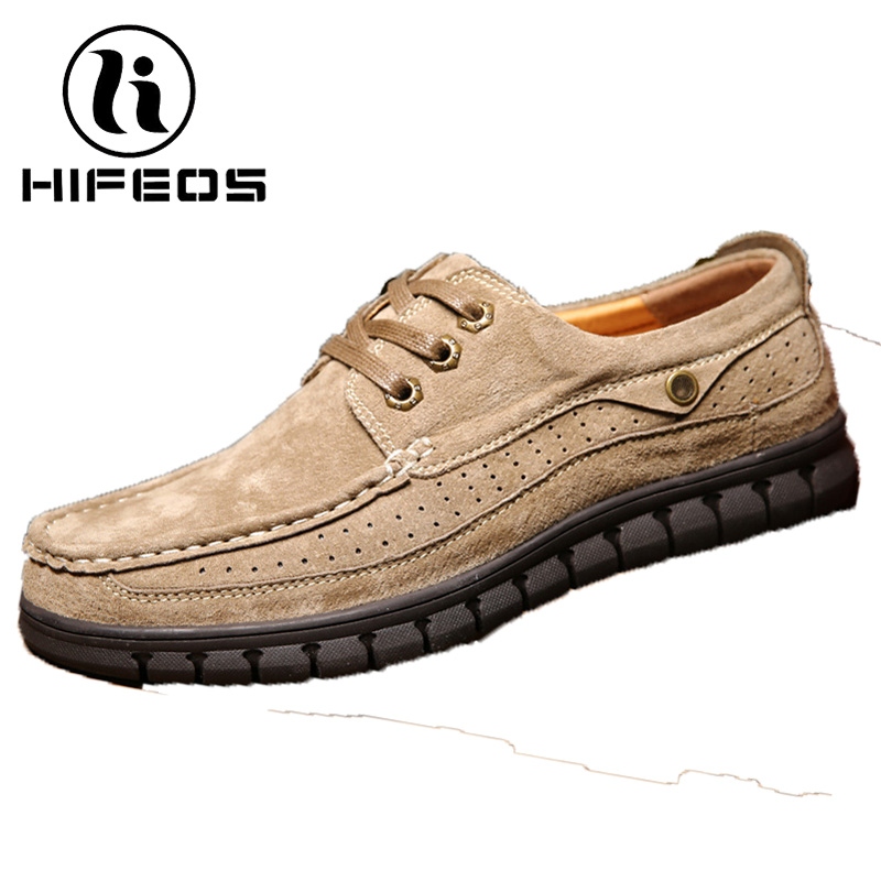 HIFEOS suede men's shoes hiking boots waterproof trekking outdoor sneakers men touring winter climbing breathable anti-slip M063 hifeos outdoor hiking shoes anti slip boots lace invisible increased men s shoes comfortable breathable sneakers climing m065