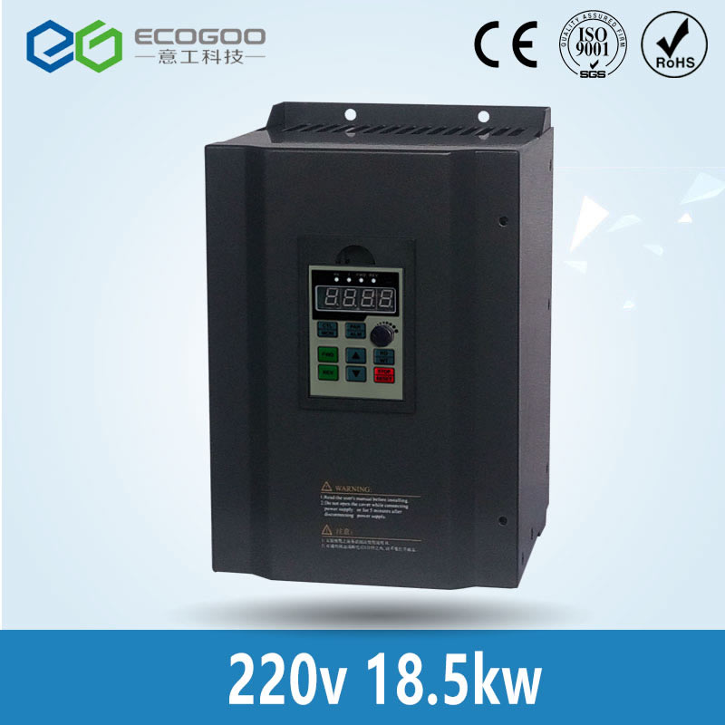 18.5KW 25HP 400HZ VFD Inverter Frequency converter single phase 220v input 3phase 380v output 39A for 20HP motor