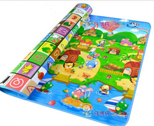 200 * 180 cm bébé ramper tapis bébé tapis de jeu fruits lettres ferme bébé tapis en développement pour les enfants Mat bébé coussin de jeu jouet