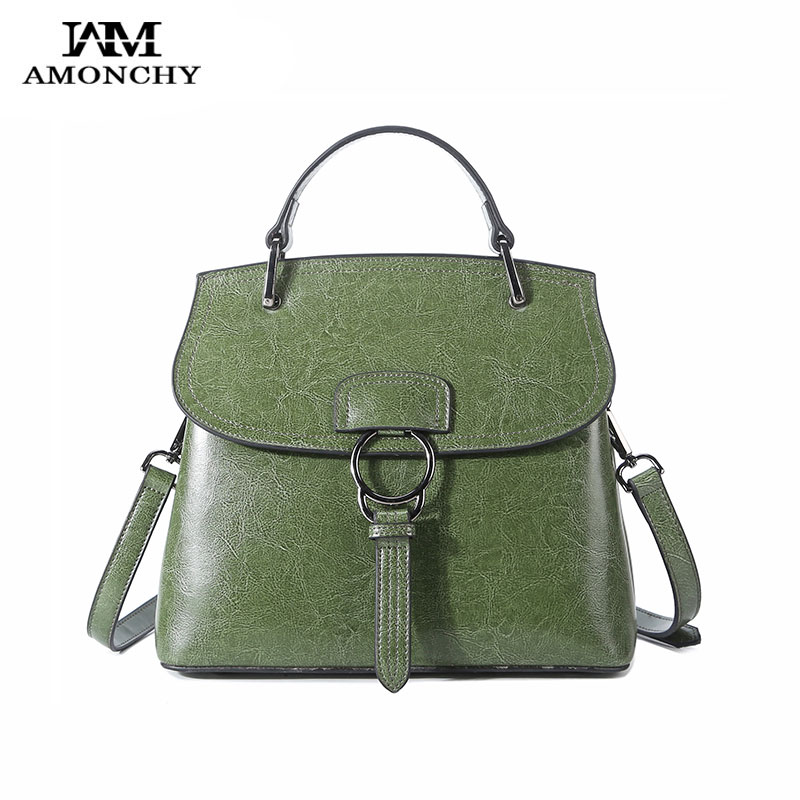 AMONCHY Brand Women Genuine Leather Handbags Elegant Ladies Shoulder Bags Casual Cow Skin Tote Bag Fashion Wild Female Handbag women bag 2015 genuine pu leather bags ladies handbags brand women leather handbags women shoulder bag tote bag b30