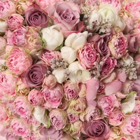 10x10ft seamless pink folwers backdrop photography curtain decorations vinyl backdrops floral background paper D 8059