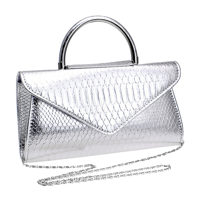 2018 New Style Women Serpentine Handbag Small Classic Leisure Ladies Shoulder Bag 3 Color Snake Pattern Female Daily Clutch Bag