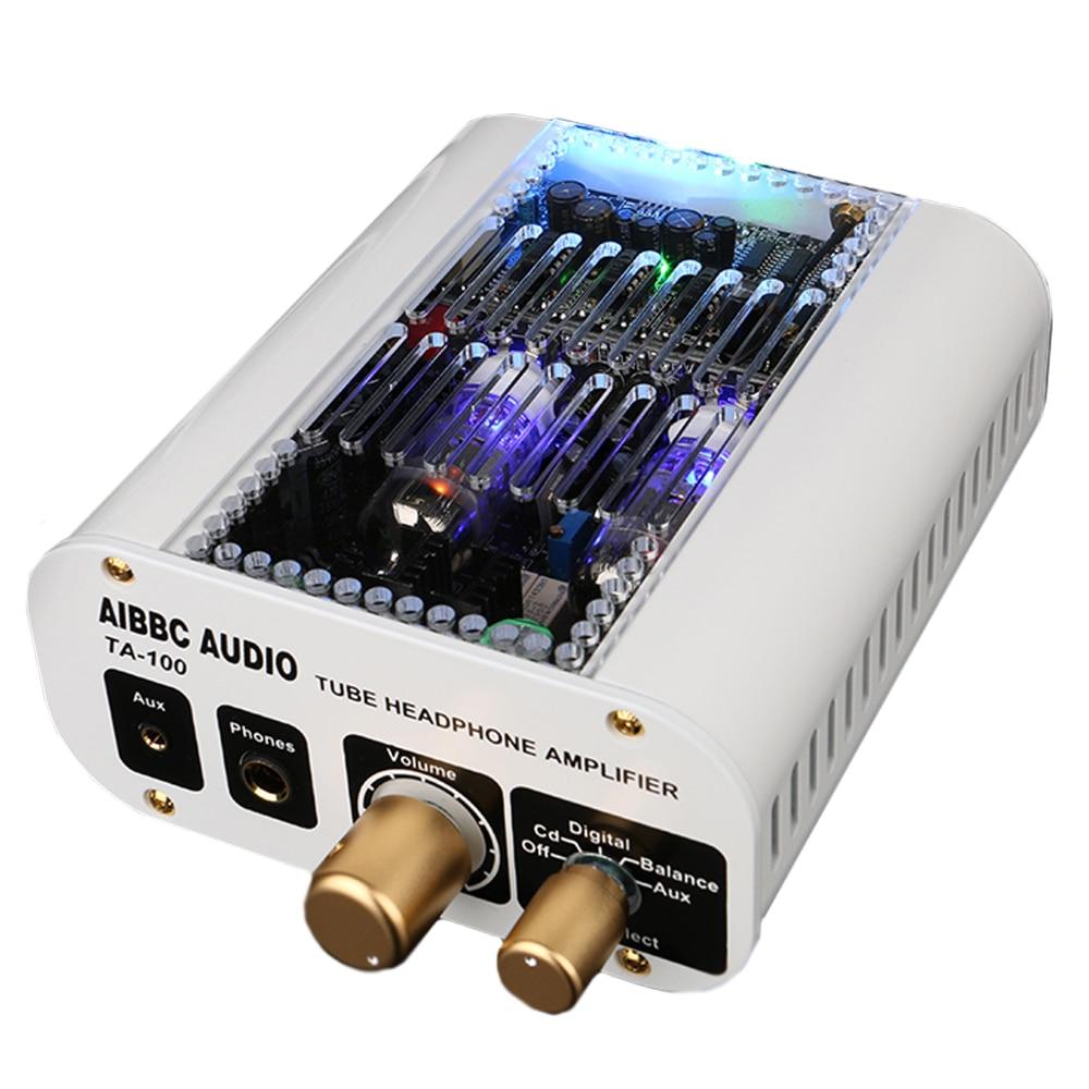 AIBBC TA-100 XMOS + ES9018S DSD balanced output DAC preamp tube amplifier