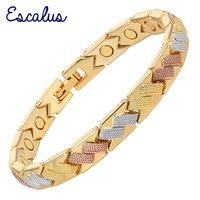 Escalus Браслеты для Для женщин 3-тон Цвет браслет магнитная Браслеты Стильные дамы ювелирных изделий подруга женский подарок очарование