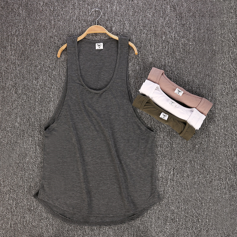 Brand Fitness Clothing Men canotta Bodybuilding Stringer   Tank     Top   muscle Shirt blank Cotton Sportwear Gyms Sleeveless Vest