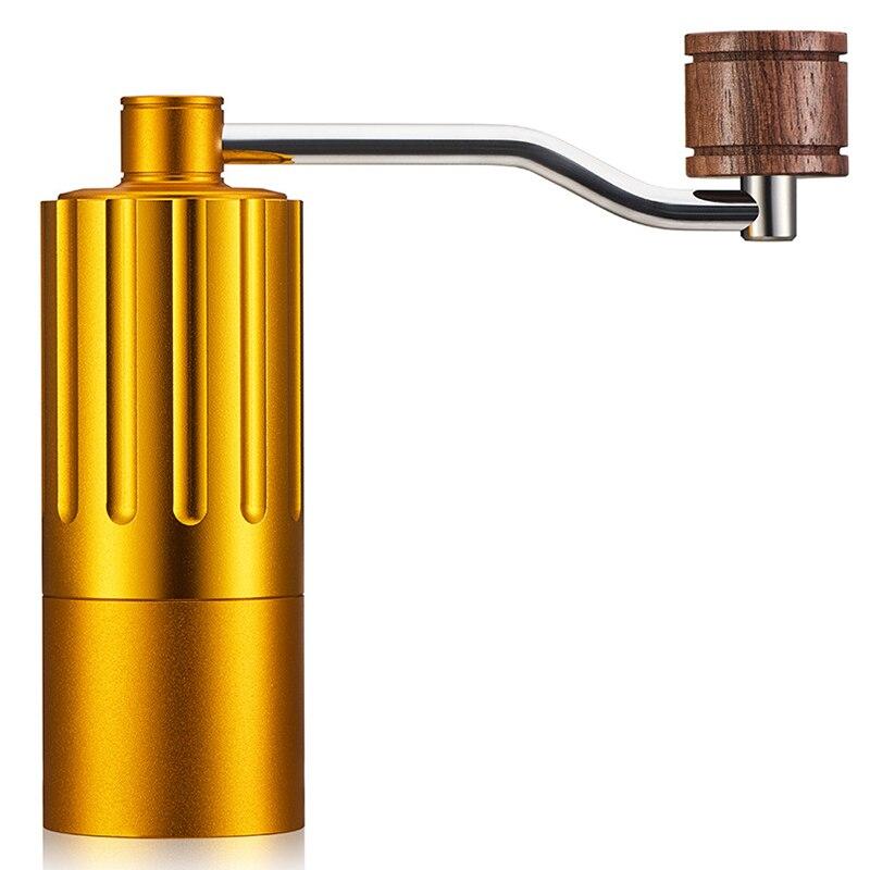 Mini moulin à café réglable manuel de moulin à café de noyau d'acier inoxydable avec la boucle en caoutchouc de stockage nettoyage facile Portable