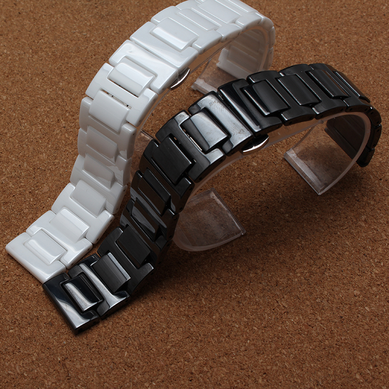Keramik Armband Armbänder für Diamant Uhr Männer Frauen 14mm 16mm - Uhrenzubehör - Foto 2