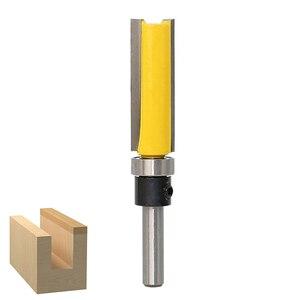 Image 5 - 1/4 Tige Droite Bit Bois Version Flush Routeur Palier Bits Bois Fraise 12.7mm Diamètre Menuiserie Outils