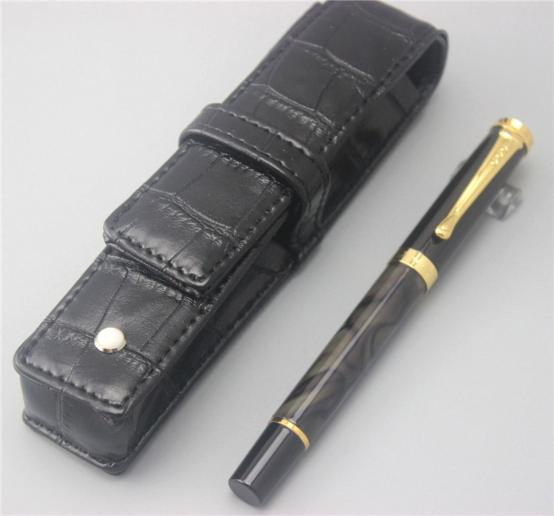 JINHAO ballpoint Pen and pen bag School Office Stationery luxury roller ball pens men women business gift send a refill 019 jinhao fountain pen unique design high quality dragon pens luxury business gift school office supplies send father friend 002
