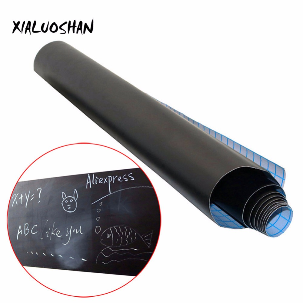 1 Pcs Blackboard Stickers Removable Vinyl Draw 45x100cm Erasable Blackboard Learning Office Notice School Office Supplies(China)