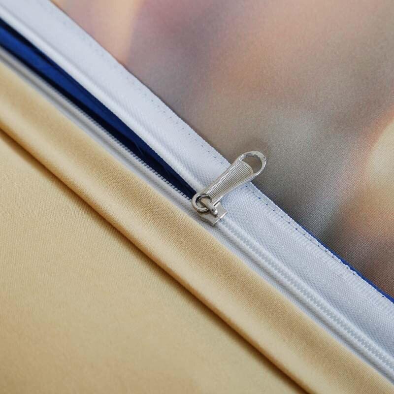 Новое поступление 3D череп 4 шт. Постельное белье дизайнер Набор пододеяльников для пуховых одеял Набор Постельное белье Queen King Размеры крова...