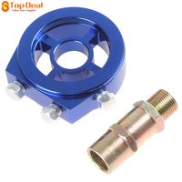 New Arrival Universal Racing Sport JDM Aluminum Oil Gauge Filter Cooler Sandwich Plate Adapter Kit