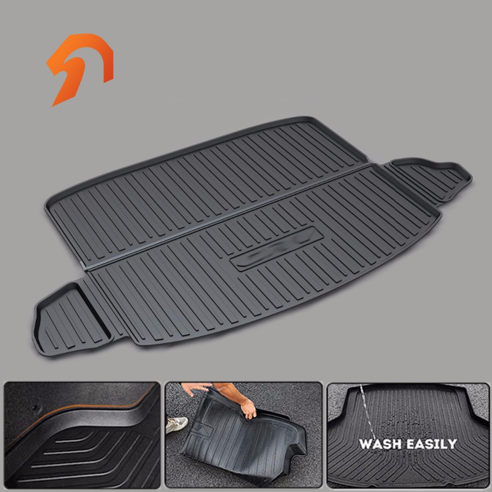 Rubber Rear Trunk Cargo Tray Rear Trunk Cover Floor Mats FOR HONDA CRV 2017 waterproof 3D car-styling car rear trunk security shield cargo cover for honda fit jazz 2008 09 10 11 2012 2013 high qualit black beige auto accessories