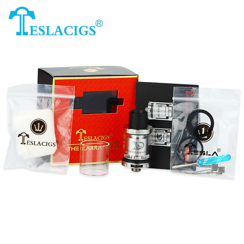 Original Tesla The Carrate 22 RTA Atomizer 2ml Top Filling Rebuildable Tank Atomizer 22mm Tesla Carrate Tank Electronic Cig orchid v4 rta rebuildable tank atomizer clearomizer