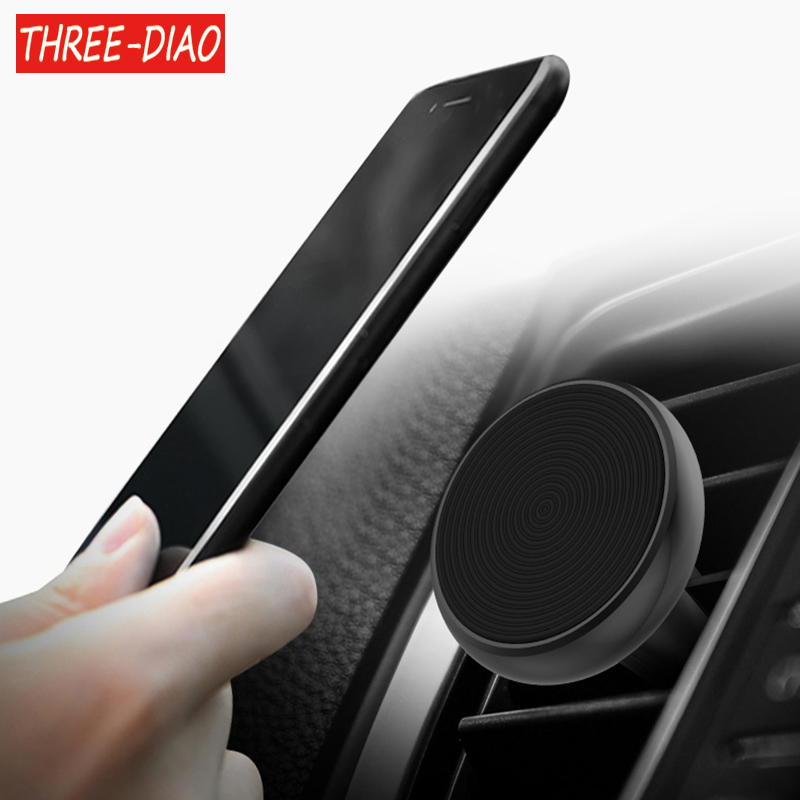 THREE-DIAO Universal <font><b>Magnetic</b></font> Car <font><b>Phone</b></font> <font><b>Holder</b></font> Air Vent Mount Magnet <font><b>Cell</b></font> <font><b>Phone</b></font> Stand For GPS iPhone 6 7 5s HTC Samsung Xiaomi