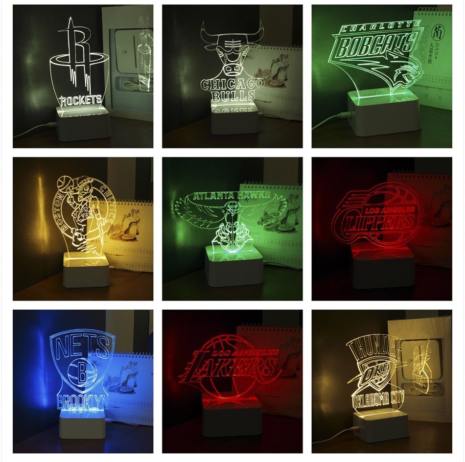 USB Novel Lamp NBA 3D LED Night Lights as Home Bedroom Decorative Besides Lampara for Cavalier Team (10)