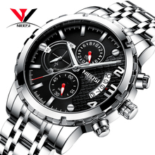 NIBOSI montre chronographe pour hommes, marque de luxe 2018, Sport/militaire, étanche, en acier inoxydable, montre bracelet pour hommes