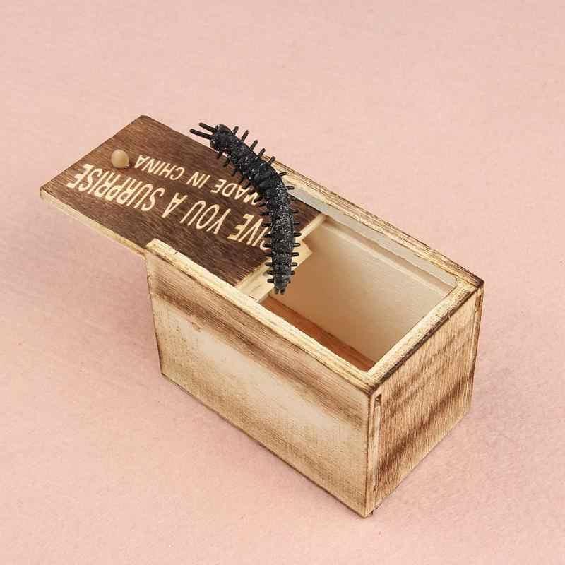 Leadingstar surpresa animais mordida na caixa de madeira mordaça presente prático engraçado brincadeira brinquedo zk20