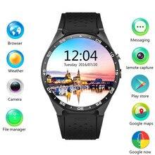 """S mart w atchโทรศัพท์3กรัมkingwear kw88 pk finow x5 x61.39 """"amoled 400*400 smart watchโทร2.0mpกล้องเซ็นเซอร์แรงโน้มถ่วงpedometer"""