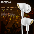 Rock Zircon Earphones Wired In Ear Stereo Noise Isolating with Microphone and Volume Control for iPhone Samsung