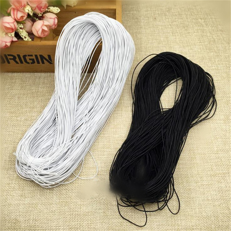 100 Meters* 1mm Elastic Band Beading Elastic Stretch Cord Beads Cord String Strap Rope For Bracelet  White Black Colorful SJD19